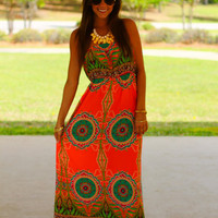 Fan The Flames Maxi, Coral