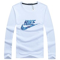 NIKE 2018c tide brand fashion wild cotton long-sleeved sports sweater F-A000-PPNZ white