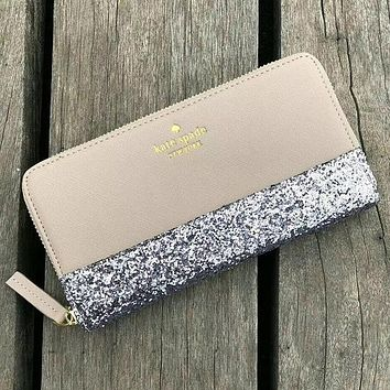 Kate Spade Women Fashion Sequins Leather Wallet Purse