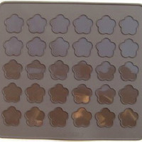 30 Hole Cherry Blossom Macaron Silicone Mat Cookie Mold Cute Macaron Baking Mold