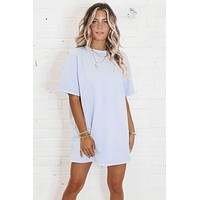 Thanks For The Memories Blue T-Shirt Dress