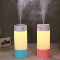 250ML Ultrasonic Air Humidifier for Home Car Air Freshener Essential Oil Diffuser Aroma USB Umidificador with LED Warm Light
