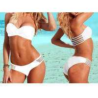 Bandeau Cut-Out Bikini