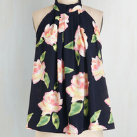 Mid-length Sleeveless Efflorescence and Sensibility Top by ModCloth