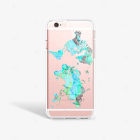 World Map iPhone 6s Case Mint iPhone 6S Plus Case Map iPhone 6 Case Map iPhone 6 Plus Samsung Note 5 Clear Samsung Galaxy S7 Case Clear