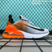 DCCK N130 Nike 2018 Wmns Air Max 270 Flyknit Crystal Particle Cushion Causal Running Shoes Grey Brown Orange