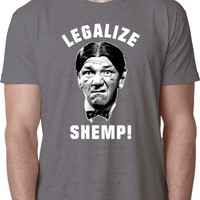 Three Stooges T-shirt Legalize Shemp Burnout Tee