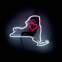Neon State Art | neon wall art, 50 states, state maps,