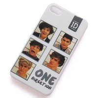 eBayke British-Irish boy band One Direction 1D Pattern L-V13 Snap-on Crystal Hard Skin Case Cover Protector Accessory for Apple iPhone 4 4G 4S