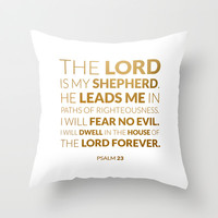 Psalm 23 Throw Pillow by cooledition