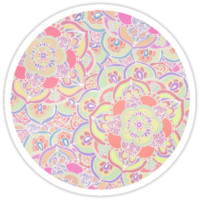Candyfloss Colored Doodle Pattern