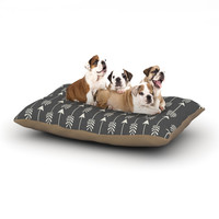 "Amanda Lane ""Tribal Arrows Dark Gray"" Dog Bed"