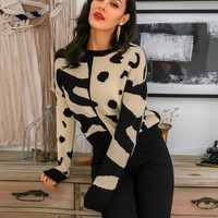 Jillian Leopard Knitted Sweater