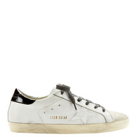 Superstar Crocodile Star White Leather Sneakers