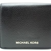 Authentic New Michael Kors Mercer CarryAll Card Case Wallet Pebble Leather Black