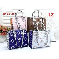 LV 2019 new women's wild large logo printing shoulder bag