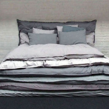 Make the Bed: Simple Stacked Comforters for Lazy Sleepers   Designs & Ideas on Dornob