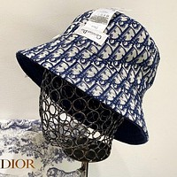 DIOR Popular Women Men Jacquard Sun Hat Baseball Cap Fisherman Hat(Double-sided wear)