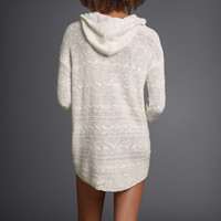 Hooded Cable-Knit Sweater