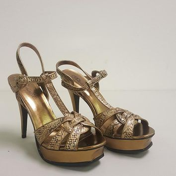 DELICIOUS SNAKE PRINT STRAPPY HEELS (SAMPLE)