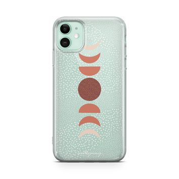 Terra Moon Phases - iPhone Clear Case