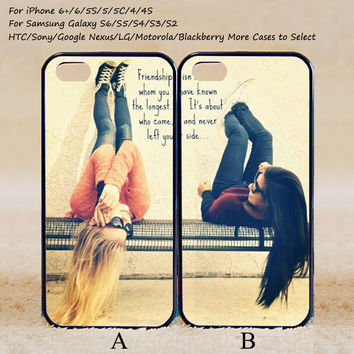 Couple Case,Best Friends Forever,Custom Case,iPhone 6+/6/5/5S/5C/4S/4,Samsung Galaxy S6/S5/S4/S3/S2