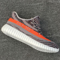 """""""Adidas"""" Women Yeezy Boost Sneakers Running Sports Shoes SPYL-350 Grey white soles"""