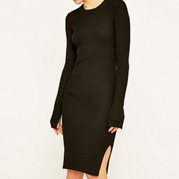 MM6 Black Knitted Dress - Urban Outfitters