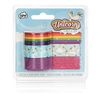 Unicorn Craft Washi Tape Roll (Set of 3 in Unicorn, Rainbow, and Glitter)