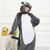 Cartoons Wolf Sleepwear Couple Bat Home Set Halloween Costume [9220975684]