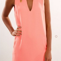 Halter Neck Loose Chiffon Dress