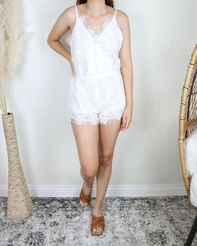 Image of Final Sale - Bat Your Lashes Boho Romper in Ivory