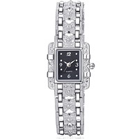 WATCH Analog Display Silver Quartz Watch Women Dress Quartz