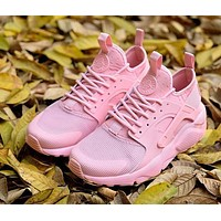 Nike Air Huarache 4 Rainbow Ultra Breathe Women Pink Running Sport Casual Shoes Sneakers - 928