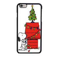 snoopy christmas lights tree case for iphone 6 6s