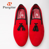 2015 New arrival Velvet men Loafers shoes Exquisite black Tassel Smoking Slipper size Free Shipping