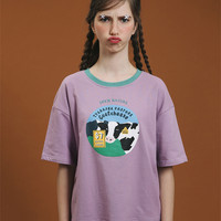 Tyakasha Pasture Purple Cheese T-Shirt