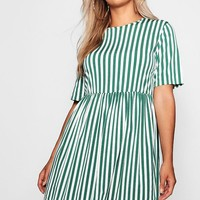Plus Striped Smock Dress | Boohoo