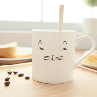 cute cat ceramic coffee mug