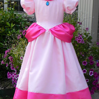 Princess Peach Costume ball gown from Super Mario Brothers. Adult sizes