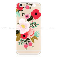 "Painting  Charm Color Eyes Peony Flower Cute Sika Silicon Phone Cases For Apple iPhone 6 4.7"" Case For iPhone6 Cover Shell VNN S IP"