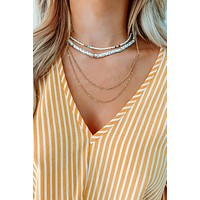 I'll Be There Necklace: Gold/Multi