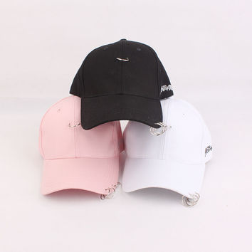 Hip-hop 3-pcs Ring Cap Baseball Cap [10683100807]