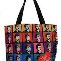 LICENSED LUCY COLORED IMAGES LARGE SHOPPER TOTE