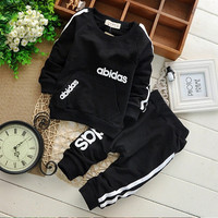New Baby Girls Boys Clothing Sets Kids Spring And Autumn Cotton Long Sleeve Shirt + Pants Suit Children Clothing Set