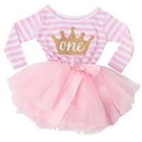 Toddler Baby Dress Princess First Communion baptism Children Clothes Birthday Baby Girls Dresses Infant