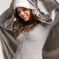 Mouse Graphic Hooded Blanket
