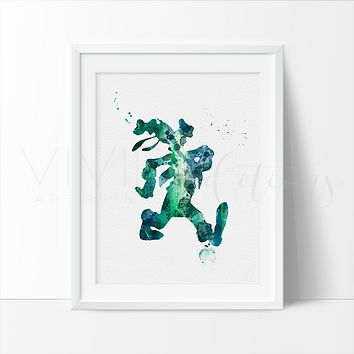 Goofy 2 Watercolor Art Print