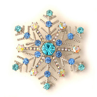 christmas sale New Year merry Christmas Snowflake Brooch Gifts christmas decorations for home sfere per albero di natale