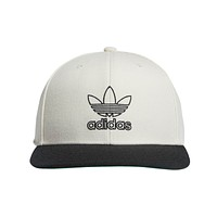 Adidas Signature Outline Snapback White Baseball Cap